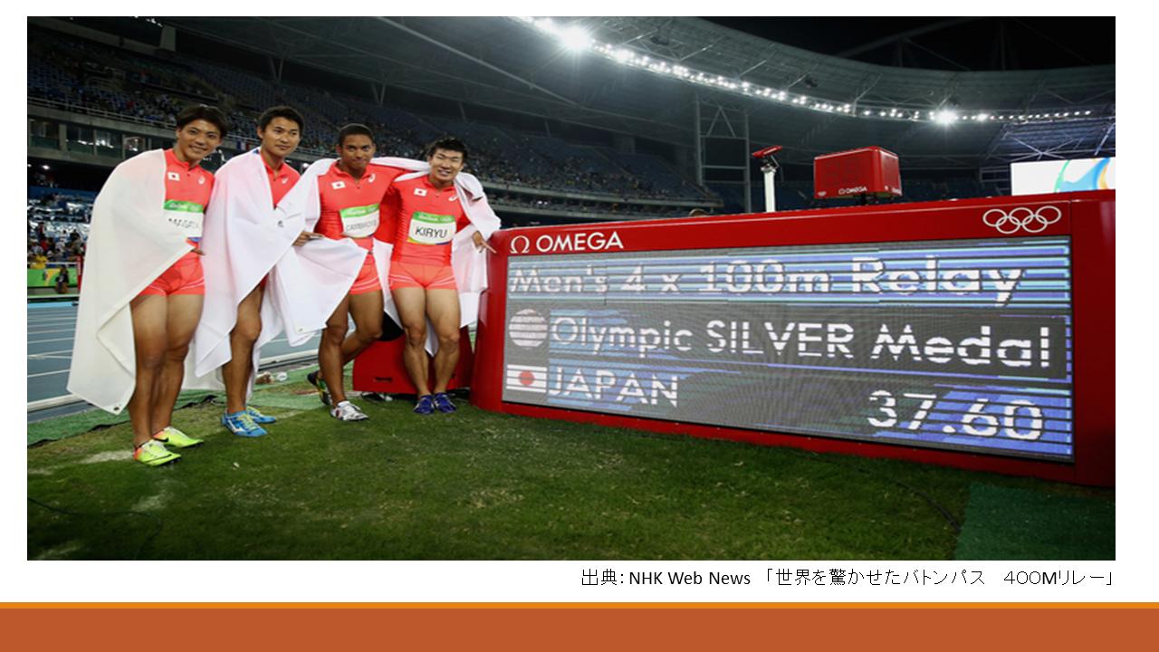 4人全員10秒切れていない日本AA